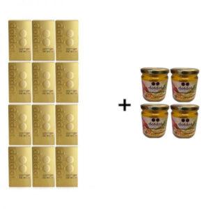 特效套裝:德國蘋果12盒 + 4瓶黃金蜜裝套 $7320